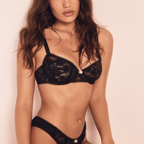 For Love And Lemons Other - New! For Love and Lemons Lou Lace Bra in Black